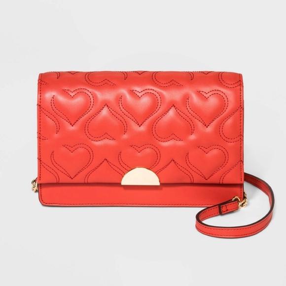 A New Day Quilted Heart Crossbody Handbag